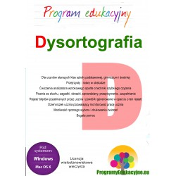 Dysortografia lic. wielostanowiskowa wieczysta CD-ROM