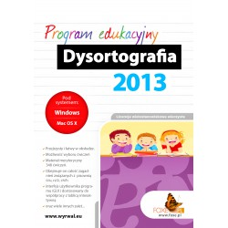 Program do nauki ortografii Dysortografia 2013 lic. wielostanowiskowa z obsługą tablic interaktywnych-cd-rom
