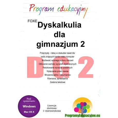Dyskalkulia dla gimnazjum 2 lic. domowa