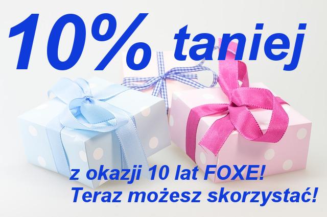 FOXE promocja urodzinowa